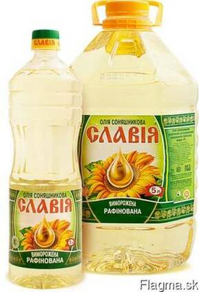 Bottled refined deodorized sunflower oil Slavia