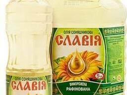 Bottled refined deodorized sunflower oil Slavia