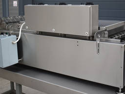 Automatic electric conveyor belt continuous deep fryer 400/1100/12